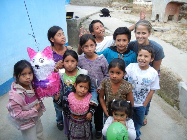 Lucy's neighborhood kids in Guatemala